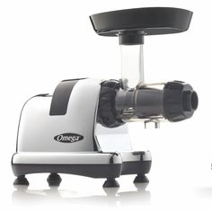 Omega Juicers 5th Generation Masticating Juicer and Nutrition System with Chrome Finish, Grey