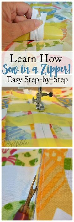 learn how to sew in a zipper in this step-by-step beginner sewing tutorial