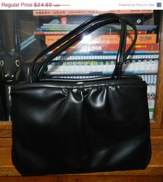 30 Percent off Vintage Midcentury GARAY Black Tote by JeweledLuv, $17.42