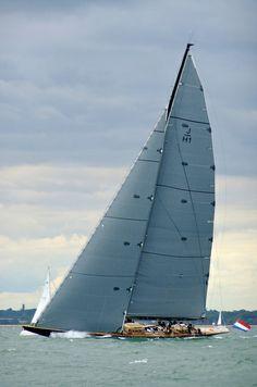 Lionheart, J Class Yacht - Calshot, England Classic Sailing, Classic Yachts, J Class Yacht, Sailboat Racing, Adventure Of The Seas, Yacht Boat, Sailing Ships, Sailing Yachts, Yacht Design