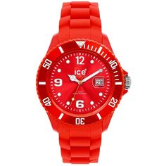 Ice-Watch Watch, Women's Sili Forever Red Silicone Strap 43mm 101970 ($99) ❤ liked on Polyvore