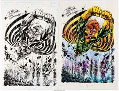 Tom Morgan Banshee Illustration Original Art Group of 2 - W.B.