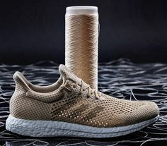 adidas Futurecraft Biofabric prototype shoe features an upper made from 100% Biosteel fibers.