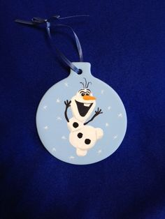 ceramic hand painted Christmas ornament Olaf from Frozen OOAK by CERAMIXbyBETSY on Etsy https://www.etsy.com/listing/205662191/ceramic-hand-painted-christmas-ornament