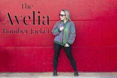 The Avelia Bomber Jacket - Free Sewing Pattern - Mood Sewciety Mood Designer Fabrics, Mood Fabrics, Diy Clothing, Sewing Clothes, Sewing Patterns Free, Clothing Patterns, Free Pattern, Patterned Bomber Jacket, How To Fold Sleeves