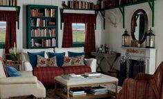 This cosy, Highland insipred living room makes us want to curl up with a good book!
