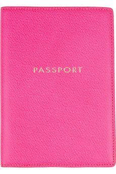 smythson, passport cover