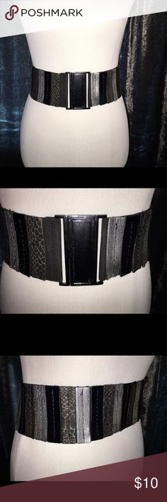 Cool metal clasp front wide belt Wide elastic front clasping belt Buckle Accessories Belts