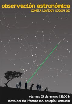Observación del cometa Lovejoy (C/2014 Q2)  desde Orihuela, organizada por el grupo de astronomía del MUDIC | 23 enero 2015