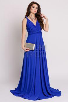 Rochie lunga albastra versatila