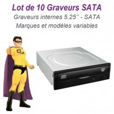 "Lot de 10 Graveurs DVD Internes SATA 5.25"" Philips Sony LG Nec Toshiba Plextor"