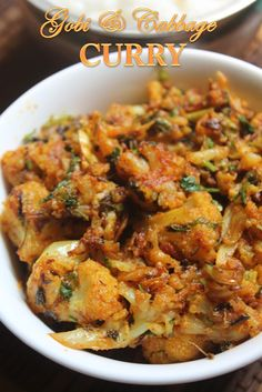 Cauliflower and Cabbage sabji - flavored with kasuri methi & cilantro