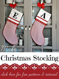 DIY Handcrafted Christmas Stocking Pattern and Tutorial