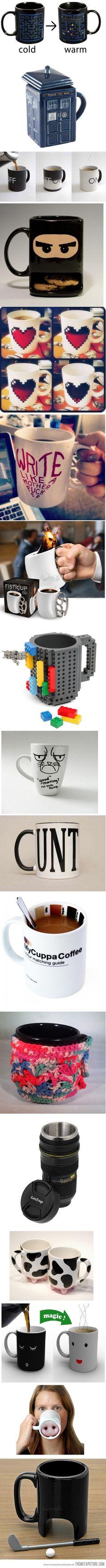 Unusually creative mugs…