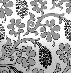 Pattern drawing of silk fabric, velvet, of burial cloak of Charles IV. Probably red velvet with gold leaves and blue grapes.  Royal crypt of Prague castle. Production: Italy, 14.c. By: Gollerova-Placha (1937)
