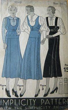 Priscilla - 1920s/1930s Vintage Style Drop Waist One Piece Jumper Dress - ALL SIZES Custom Made. $155.00, via Etsy.