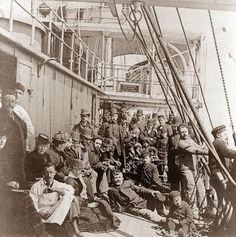 This picture shows an Immigrant Ship, on its way to the United States. The picture was taken in 1890