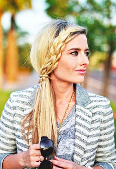 Braids can still look chic for an office look.