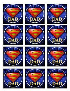 Super papá. Decoración para el día del padre con plantillas e imprimibles. - Ideas y material gratis para fiestas y celebraciones Oh My Fies...