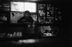 """Yutaka Takanashi: Buffet Toyota, 1 Tsunohazu, Shinjuku-ku, from the series """"Tokyo-jin"""", 1965"""