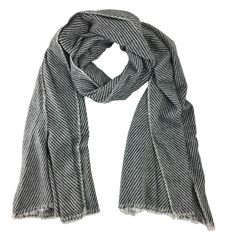 Handloomed Striped Cashmere Scarf