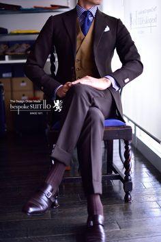 Suits: Ermenegildo Zegna / MOHAIR TROPHY, Vest: SCABAL