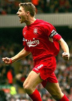 Steven Gerrard, my roommate turned me into a Liverpool faithful. What can I see, the man is amazing at what he does! Liverpool Fc, Steven Gerrard Liverpool, Liverpool Captain, Liverpool Football Club, Good Soccer Players, Football Players, Beatles, Stevie G, This Is Anfield