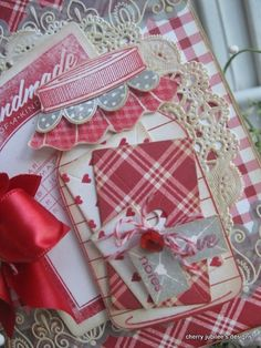 papertreyink dies and stamps, mason jar and retro button card,  Valentine card by kelli