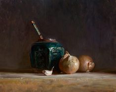 The ginger jar | A still life painting by British Artist Julian Merrow-Smith