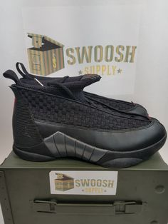 a77def6e766 Details about Nike Air Jordan Retro XV 15 Stealth 2017 Black Varsity Red  881429-001 Size 11.5