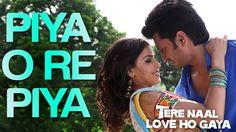 'Piya O Re Piya' (Main Waari Jaavan) is a beautiful love song sung by Atif Aslam & Shreya Goshal from the movie 'Tere Naal Love Ho Gaya'. Dj Songs, Audio Songs, Best Songs, Love Songs, Awesome Songs, Mp3 Song, Song Lyrics, Marathi Song, Song Hindi