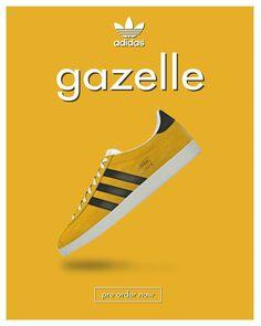 Gazelle Super Yellow poster Adidas Og, Adidas Retro, Adidas Sneakers, Adidas Spezial, Football Casuals, Custom Website Design, Adidas Originals, The Originals, Adidas Gazelle