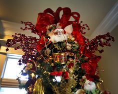 Angela Neal's Christmas den is loaded with 28 Mark Roberts Fairies.