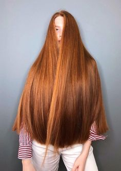 Pure long hair added a new photo. Long Silky Hair, Long Red Hair, Very Long Hair, Waist Length Hair, Fire Hair, Beautiful Red Hair, Rapunzel Hair, Straight Hairstyles, Hair Beauty
