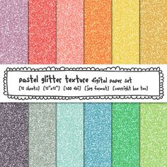 glitter texture digital backgrounds pastel colors by huetoo