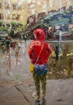 Seattle artist Arlon Rosenoff Fine Art - Woman in Red