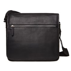Marimekko shoulder bag, black leather