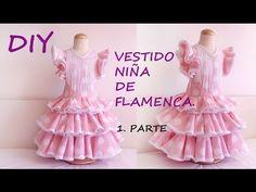 Vestido niña de flamenca: Como hacer un vestido flamenca de niña – Corte & Costura Little Girl Dresses, Girls Dresses, Flower Girl Dresses, Costume Flamenco, Ruffle Skirt Tutorial, Diy Vestido, Baby Couture, Dress Tutorials, Diy For Girls