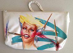 Paintbrush girl purse (Iron Lace) Tags: fashion vintage kitsch retro 80s 1980s handbag verkerke gerrythecat