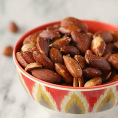 Is it wine o'clock yet? We need a reason to eat all these perfect Olive Oil Roasted Almonds.