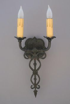 Arroyo Double Sconce, Custom Lighting, Antique and Spanish Revival Lighting: Sconces,Chandeliers etc. at Revival Antiques