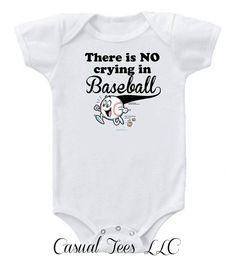 There is No Crying in Baseball Funny Onesie by CasualTeeCo on Etsy, $14.00