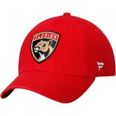 detailed look a32d6 fa39d Florida Panthers Fundamental Adjustable Hat - Red
