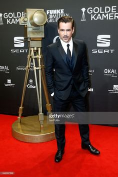Irish actor Colin Farrell arrives for the Goldene Kamera on March 4, 2017 in Hamburg, Germany.