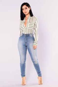Best Jeans For Women Wowomen'S Tall Jeans On Sale – rotatal Classy Outfits, Casual Outfits, Cute Outfits, Beste Jeans, Best Jeans For Women, Jeans Women, Style Feminin, Look Office, Dress Outfits