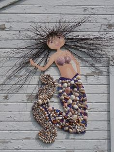 seashell art | Seashell Art and Crafts / shell art - Very cool for the beach.