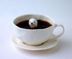 Porcelain Dog Cup wi