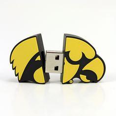 Iowa Hawkeyes Shape USB #hawkeyes #UniversityOfIowa