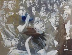 "Saatchi Art Artist János Huszti; Painting, ""Political Joke_2"" #art"