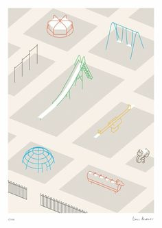 Playground - Linus Kraemer. Wonderful minimal illustration. Simple shapes, simple lines. Love it